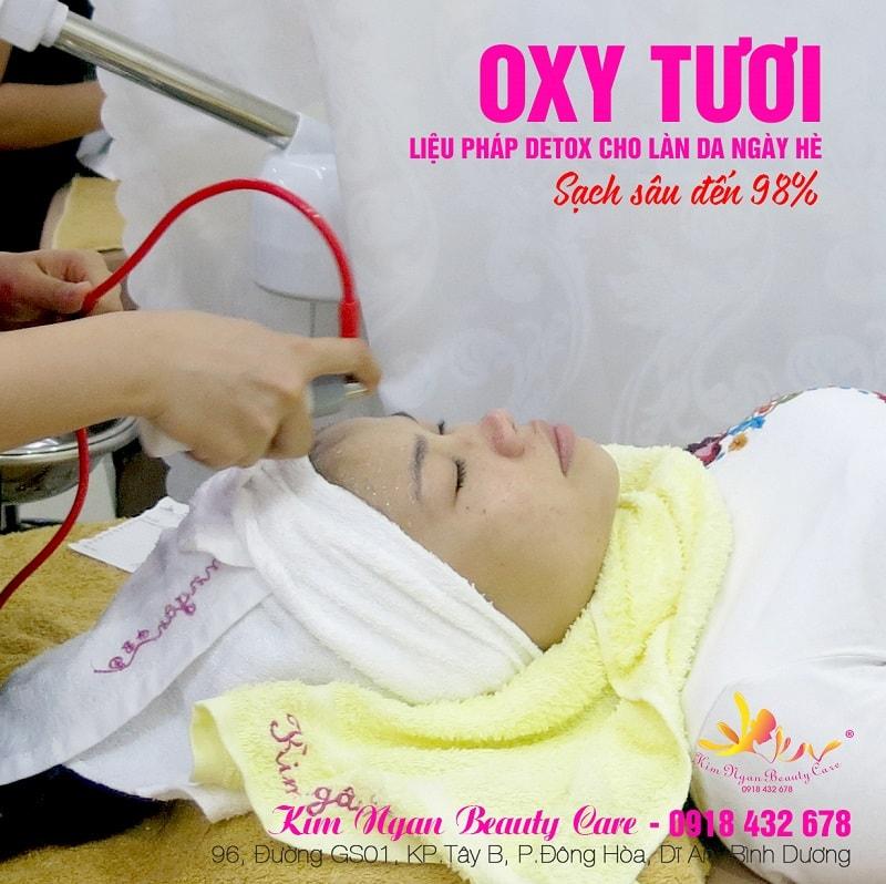 cung cấp oxy tươi cho da tại dĩ an bình dương