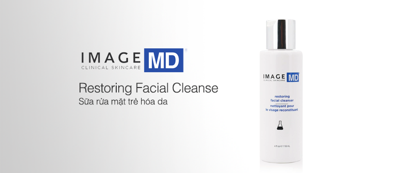 Sữa rửa mặt trẻ hóa da Image MD Restoring Facial Cleanser