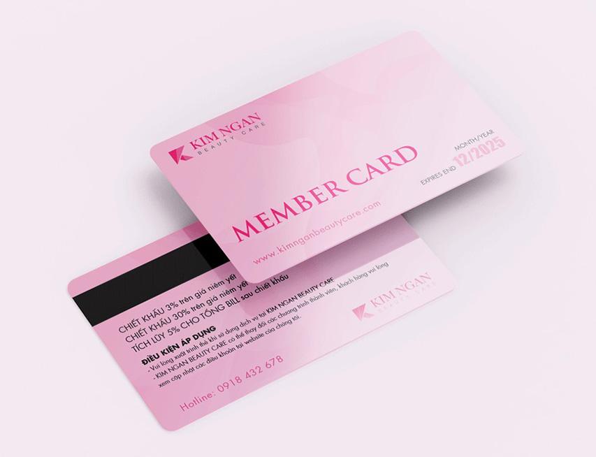 thẻ thành viên member kim ngan beauty care