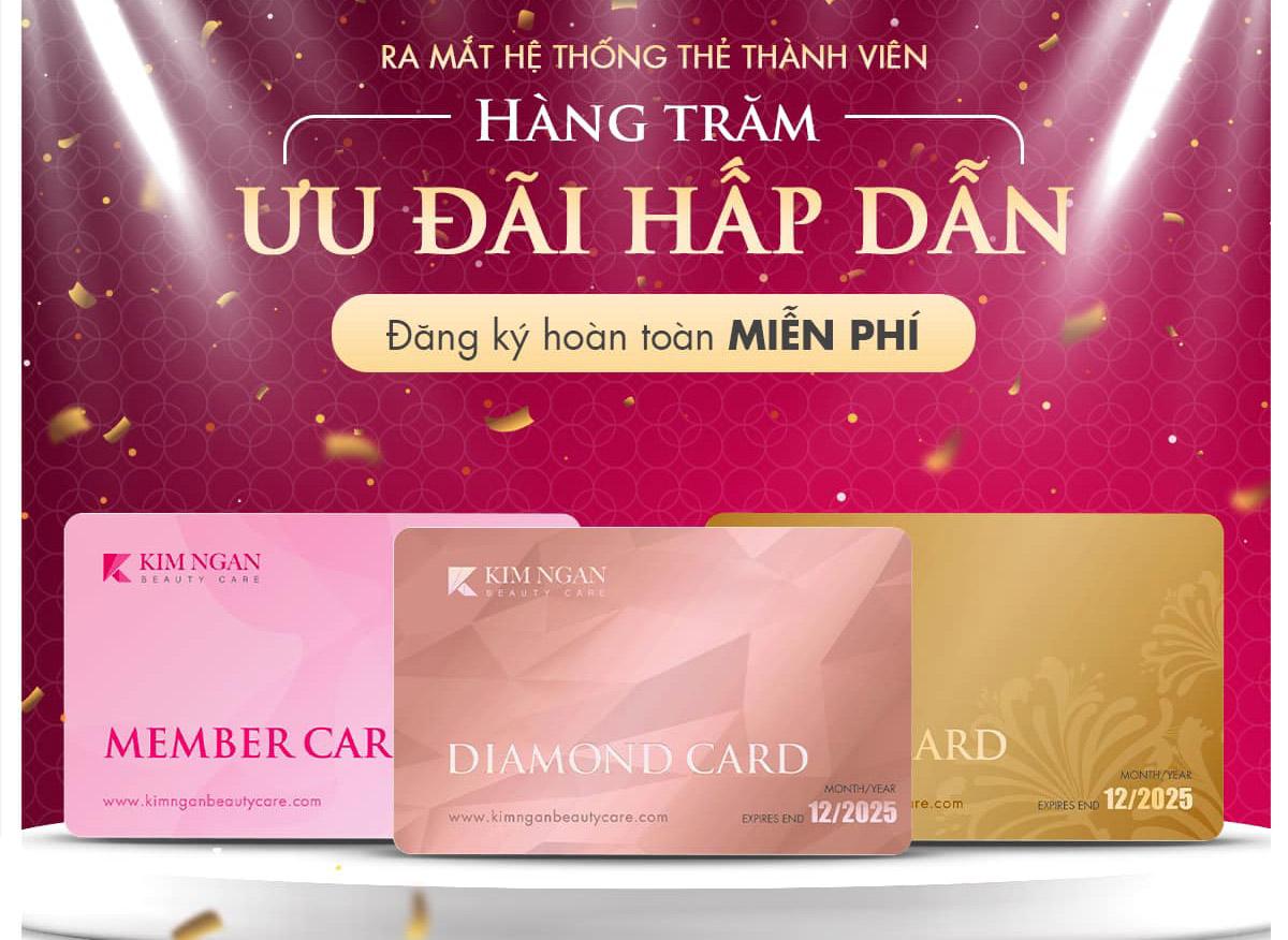 thẻ thành viên tại kim ngân beauty care bình dương