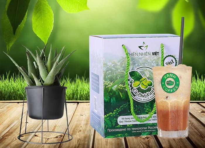 Cà phê xanh kháng mỡ, hỗ trợ giảm cân Thiên Nhiên Việt