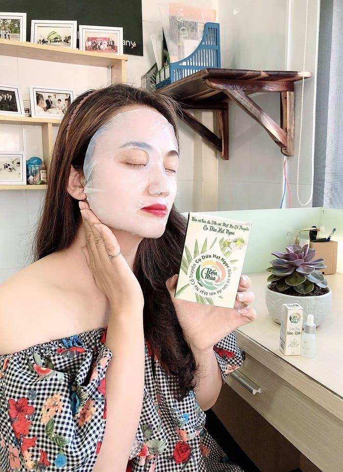 Mặt nạ Cọ Dừa Hạt Ngọc - Cấp ẩm cho da, làm mờ sẹo, trị mụn (2)