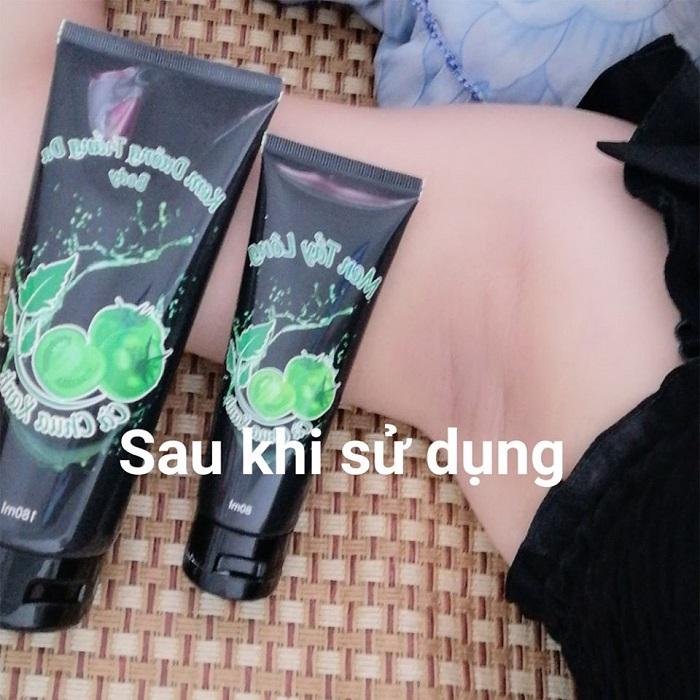 Kem body cà chua xanh - giảm kích ứng, dưỡng ẩm sau khi tẩy lông